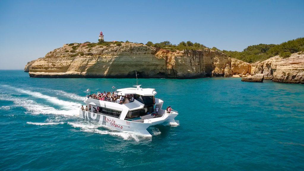 espirito oceanico catamaran boat sailing coastline by algarexperience